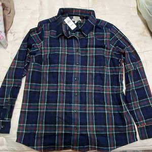 L.L. Bean plaid flannel size L brand new